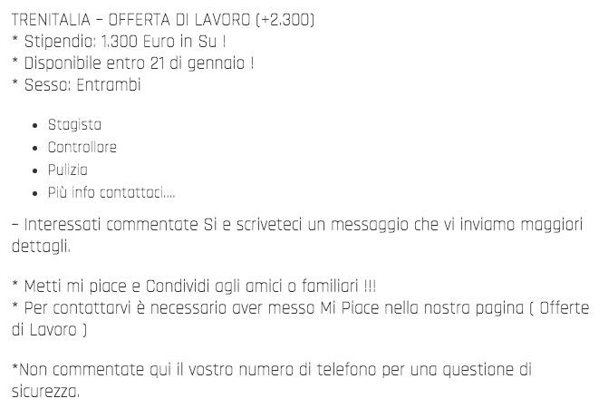 Offerta di Lavoro Trenitalia. 2300+ Posti in tutta Italia 1