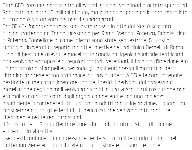 Shock! La carne bovina infettata da AIDS, sequestri in tutta italia. è allarme! (VIDEO) 3