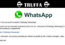 WhatsApp Messenger è scaduto