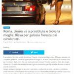 Roma. Uomo va a prostitute e trova la moglie. Rissa per gelosia frenata dai carabinieri. 2