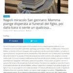 Napoli miracolo San Gennaro: Mamma piange disperata ai funerali del figlio, poi dalla bara si sente un qualcosa… 2